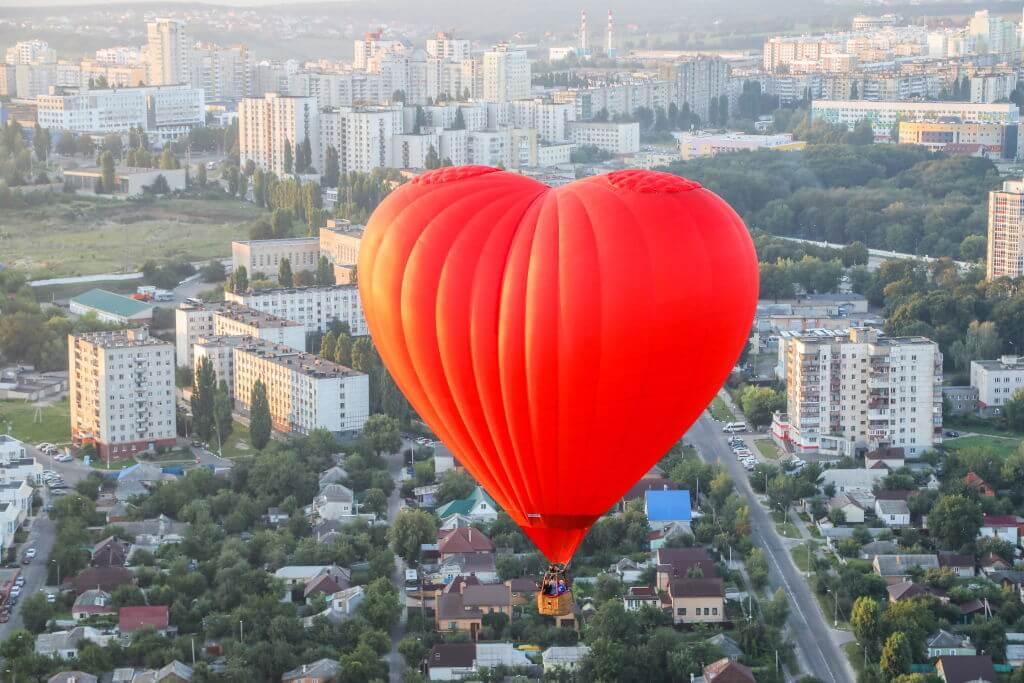 Hot air balloon festival in Russia