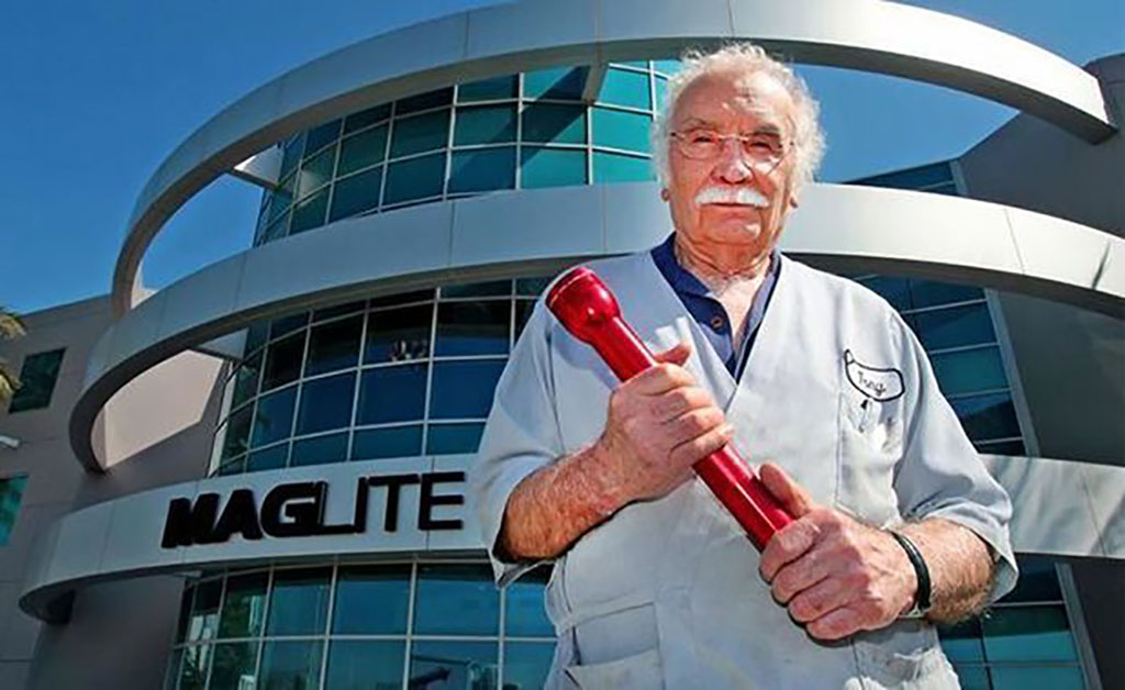 Tony Maglica holds MagLite