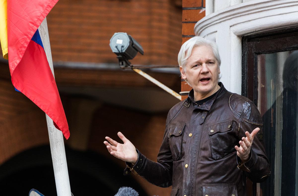 Julian Assange Addresses Media In London