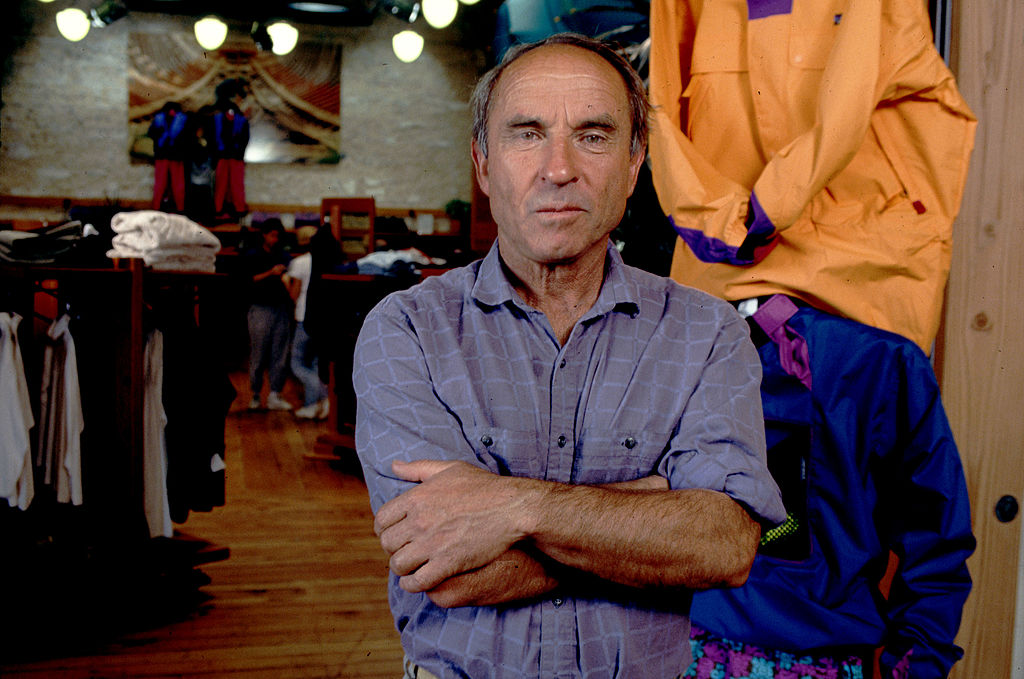 Yvon Chouinard inside Patagonia store