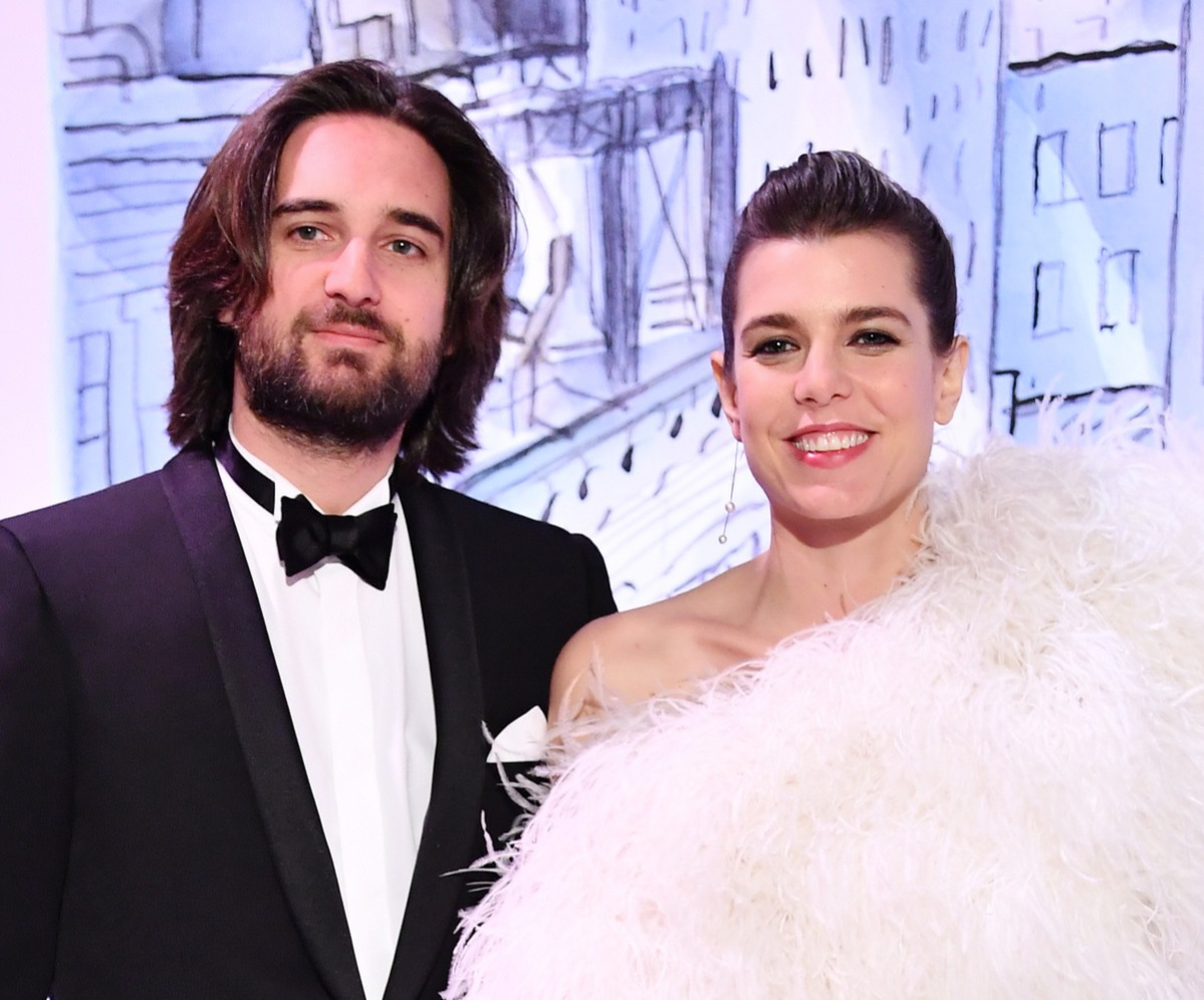 Dimitri Rassam and Charlotte Casiraghi arrive at the Rose Ball 2018