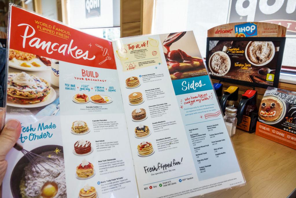 restaurant menu pictures pancakes
