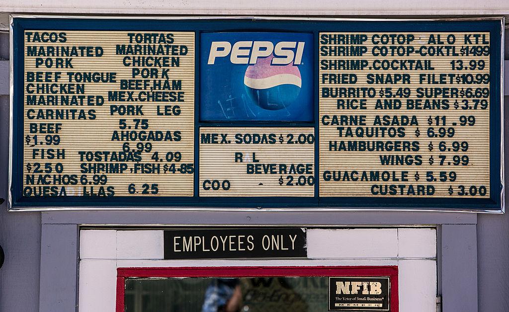 cheap restaurant menu no round numbers