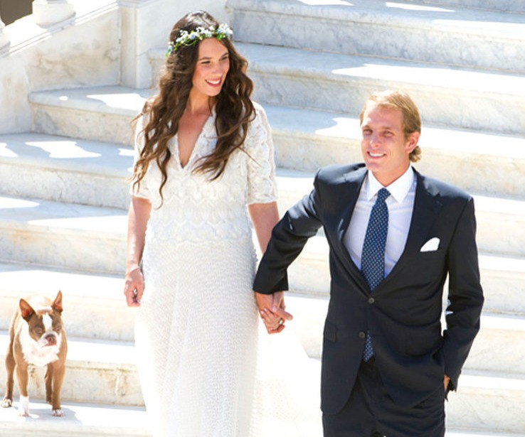 Tatianna Santo Domingo and Andrea Casiraghi wedding