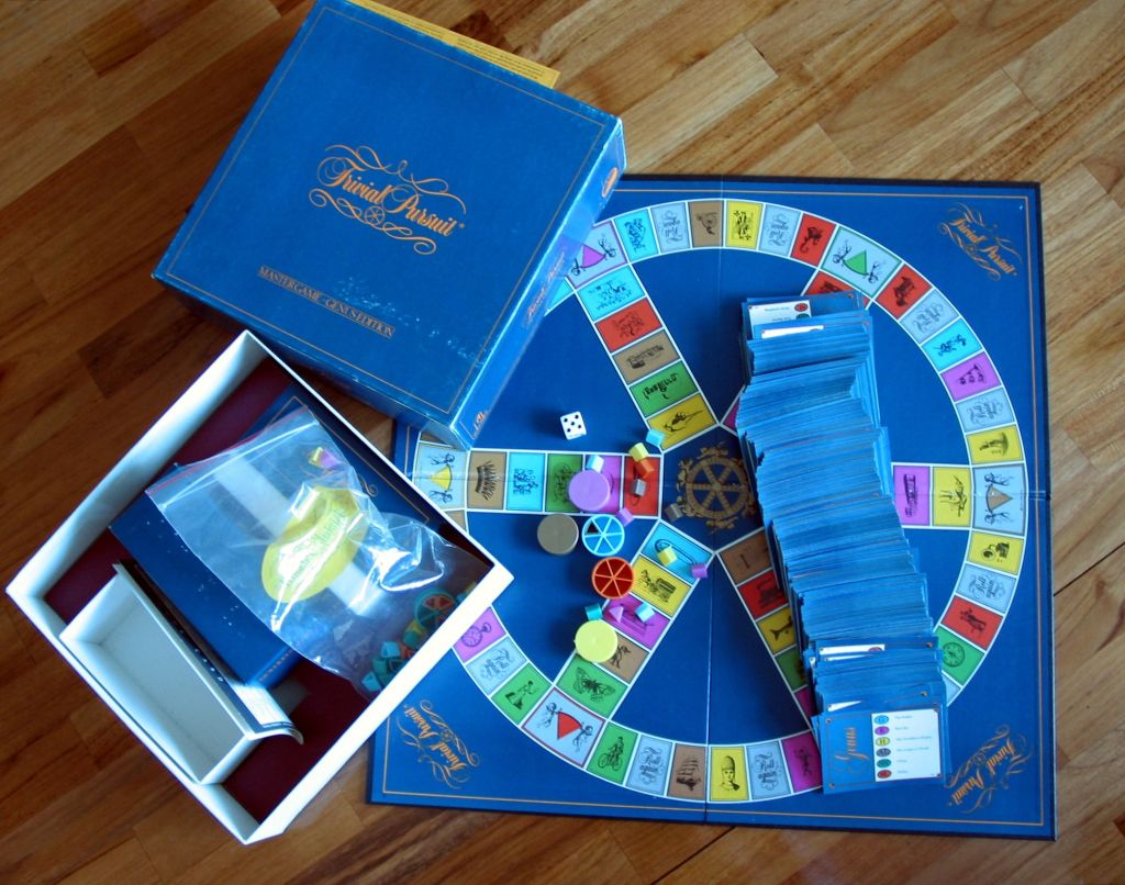 There's a deluxe version of the Trivial Pursuit game