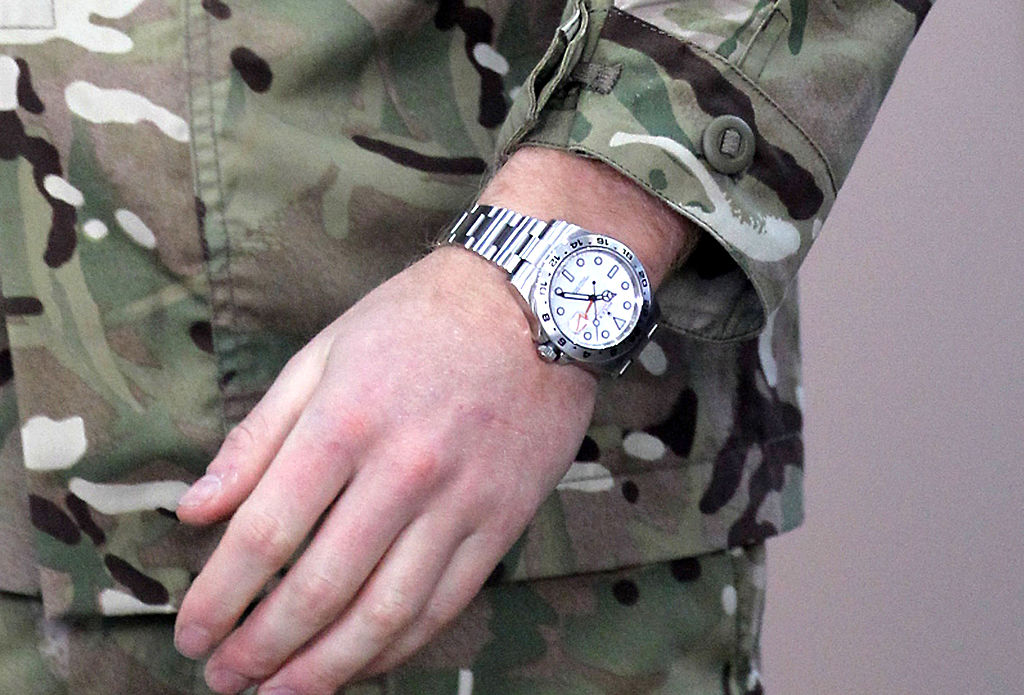 rolex Prince Harry is seen wearing a Rolex Explorer II watch during a visit to RAF
