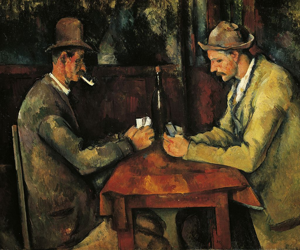 Cezanne's The Card Players oil on canvas