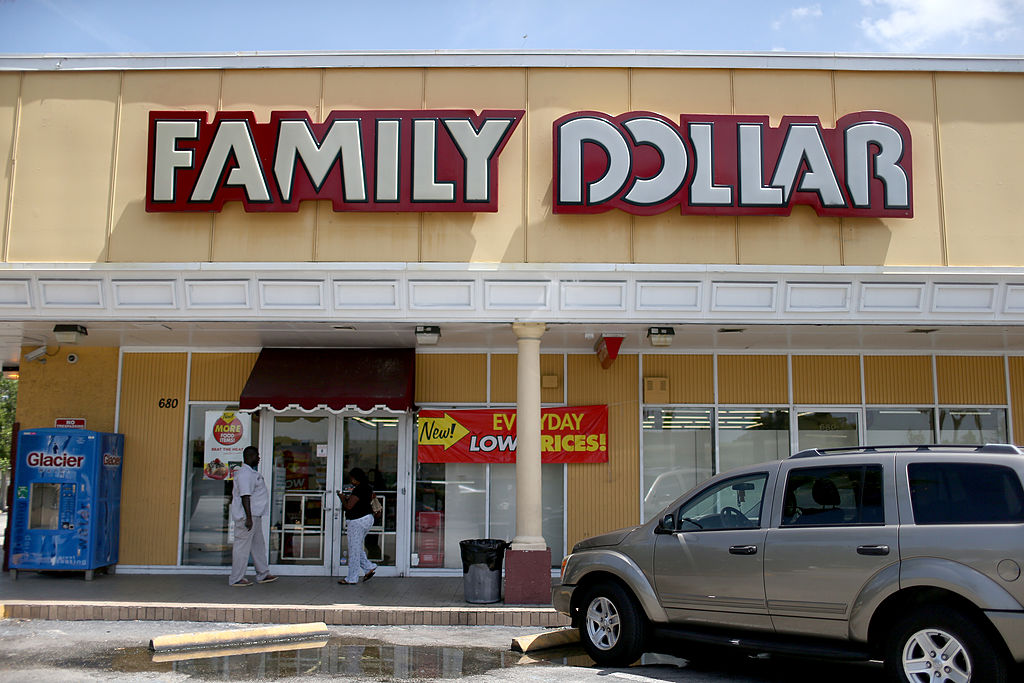 family dollar store is seen on July 28, 2014 in Hallandale, Florida