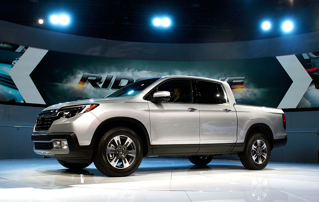 the honda ridgeline can absorb crash energy as a safety feature