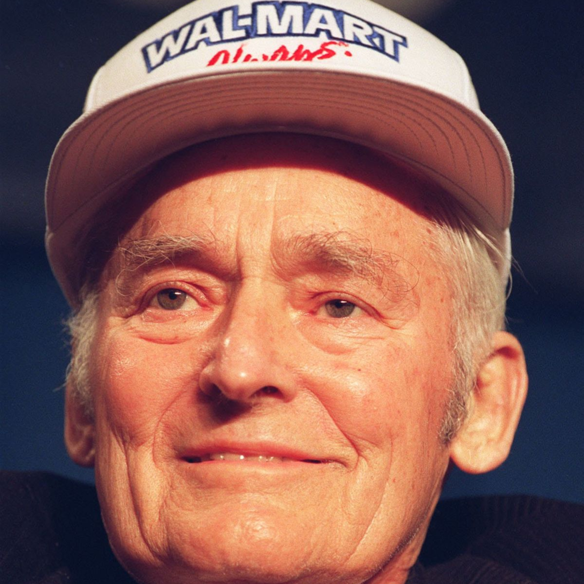 Sam Walton, founder of Wal-Mart, US retail chain, shown in a photo dated 05 April 1992 taken in Little Rock.