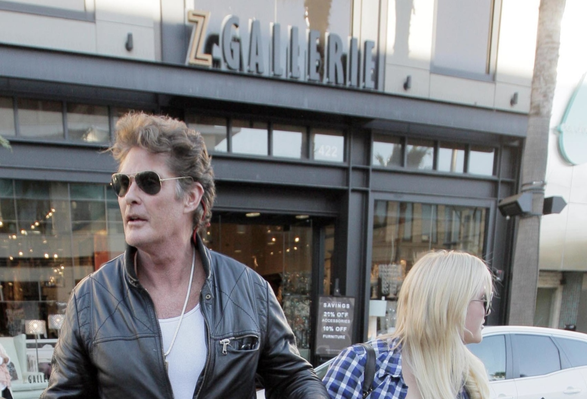 David Hasselhoff and daughter Hayley Hasselhoff shop at Z Gallerie in Beverly Hills