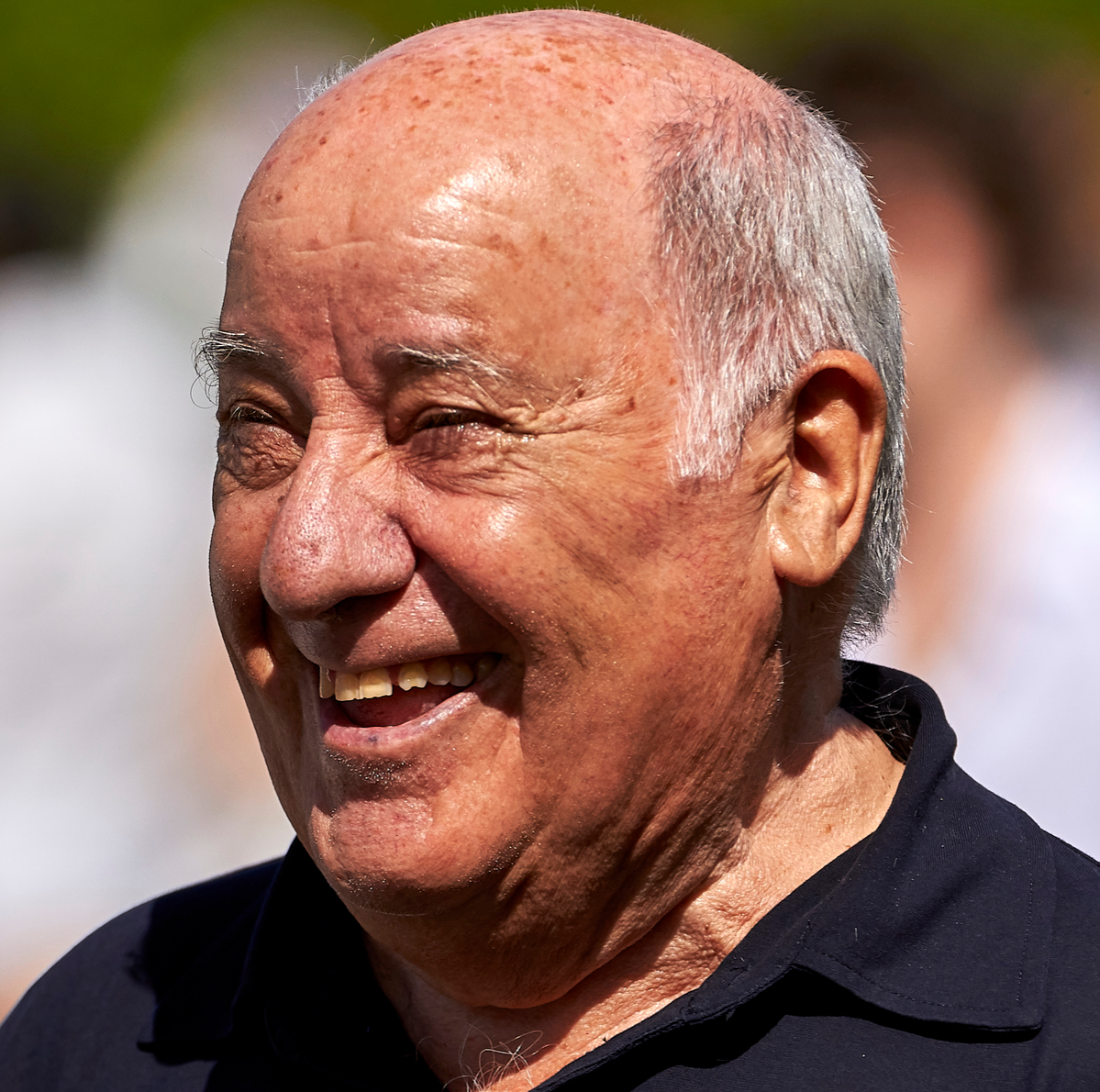 Amancio Ortega attends during CSI Casas Novas Horse Jumping Competition on July 29, 2017 in A Coruna, Spain.