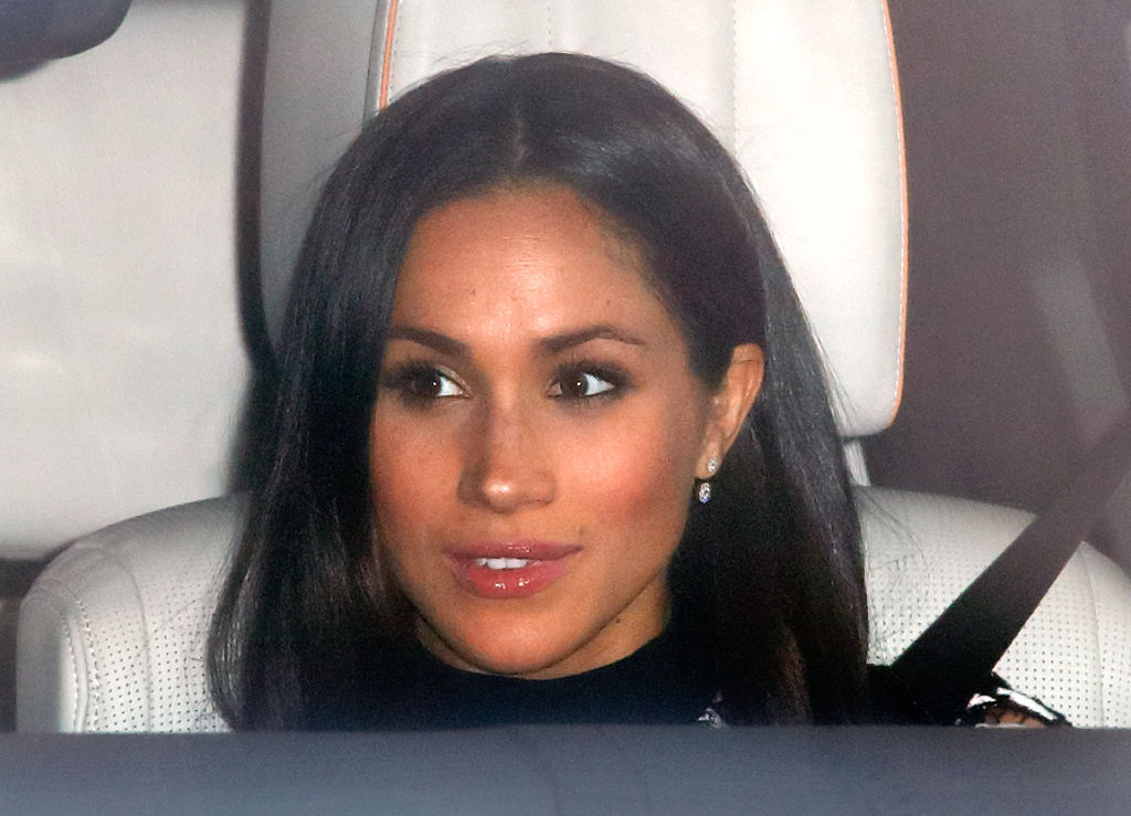 Meghan Markle attends a Christmas lunch for members of the Royal Family hosted by Queen Elizabeth II