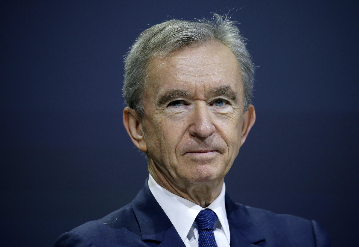 LVMH luxury group CEO Bernard Arnault attends the Viva Technology show at Parc des Expositions Porte de Versailles on May 25, 2018 in Paris, France.174