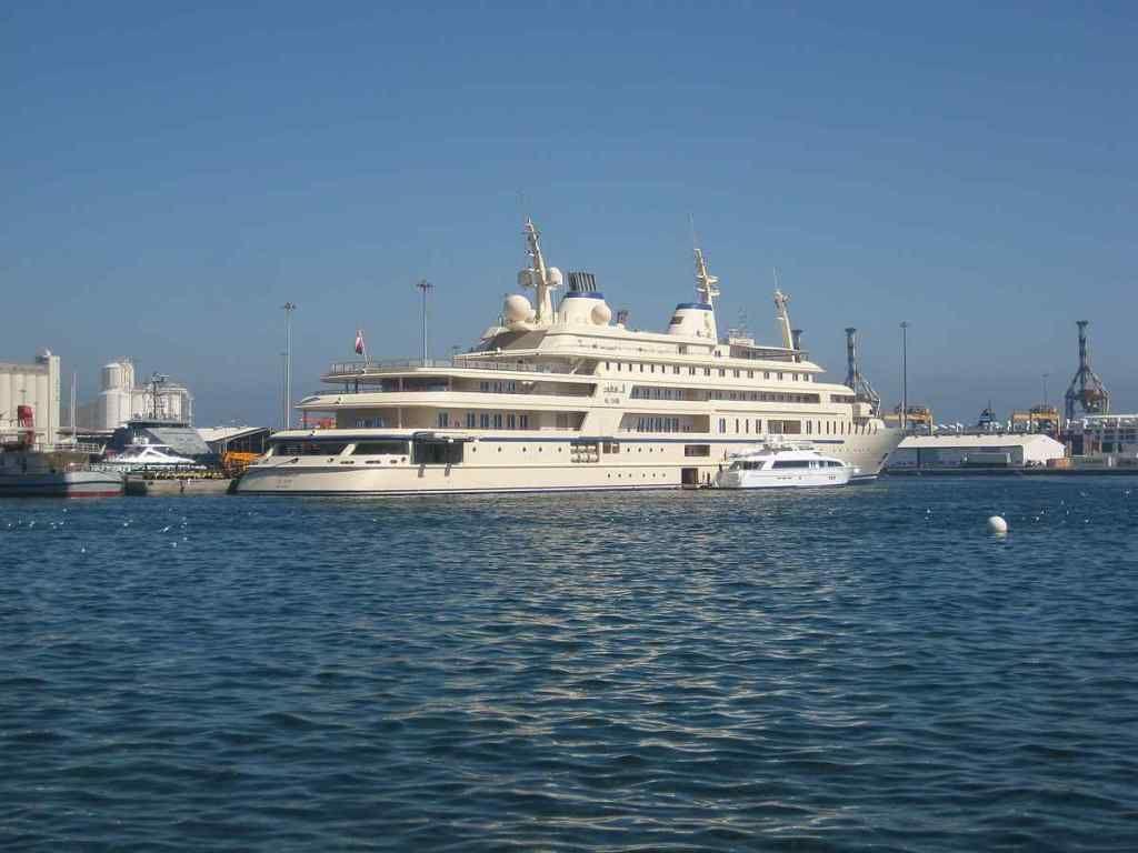 The luxury yacht named Al Said is worth $300 million