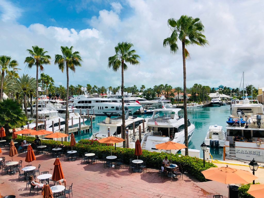 view of the marina in the bahamas