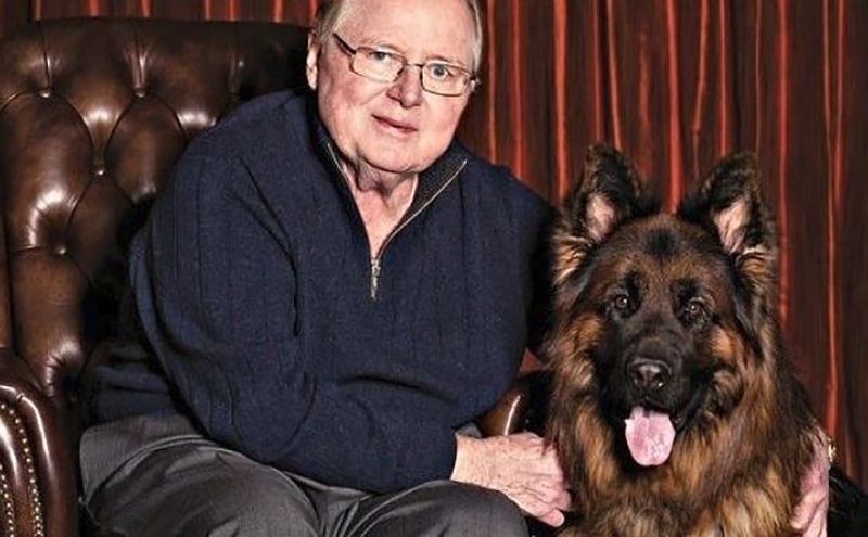 Dave Liniger and his German Shepard