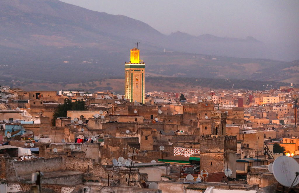 the view of the city in fes, morocco