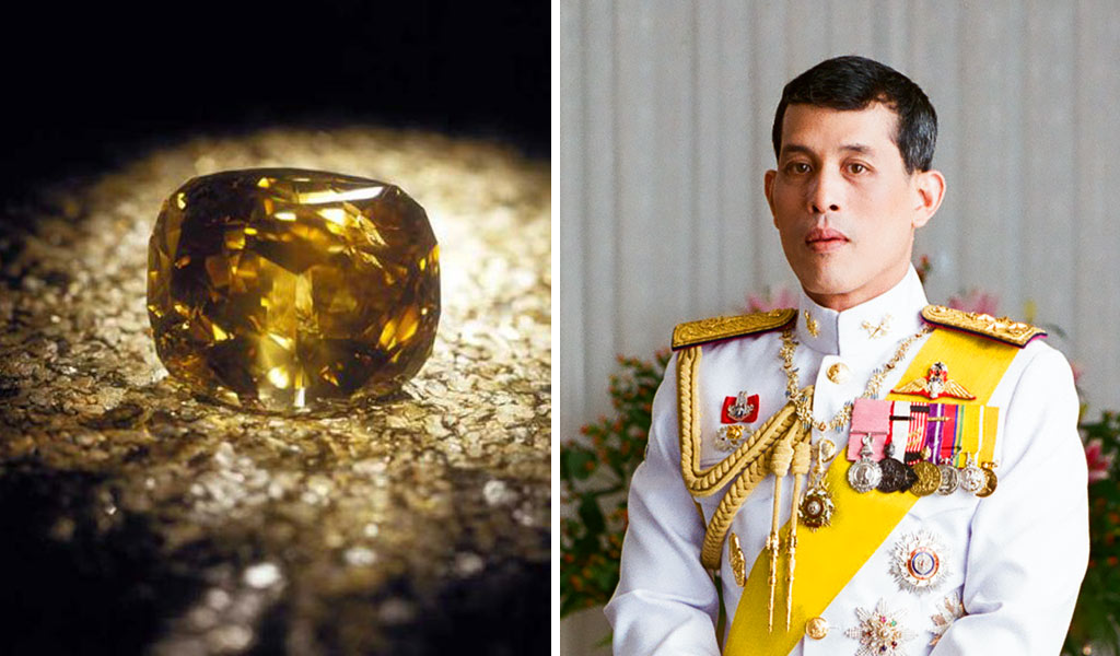 Golden Jubilee Diamond is owned by the king of thailand
