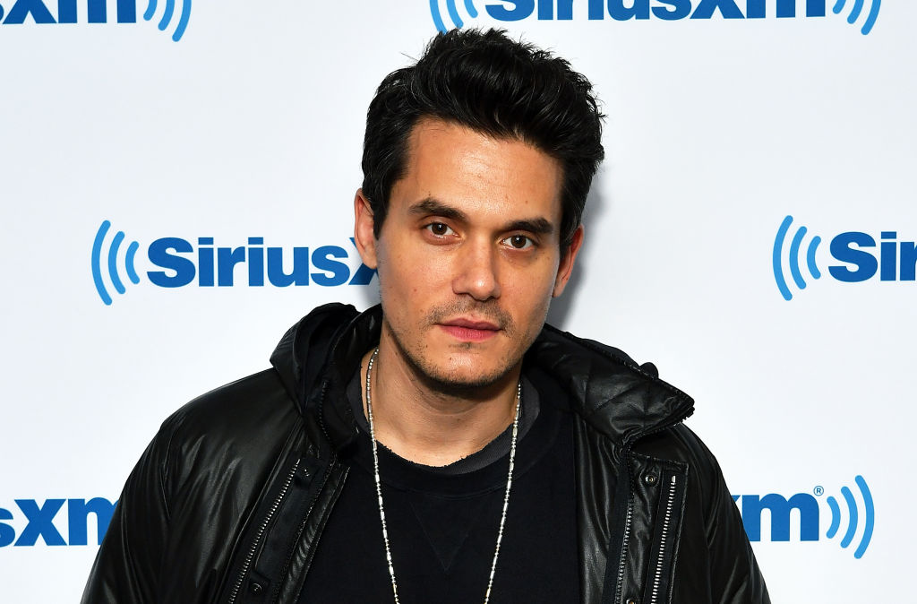 john mayer posing at a SiriusXM radio interview