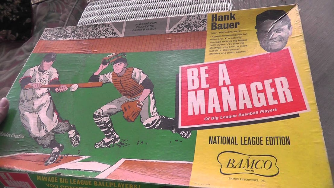 Be a manager is a sports game