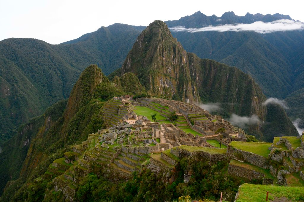 view of the machu picchu in peru