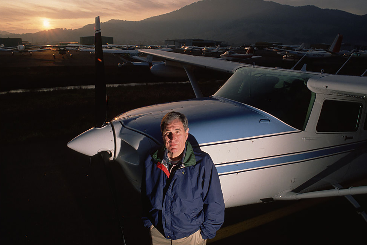 Ray Dolby and his plane