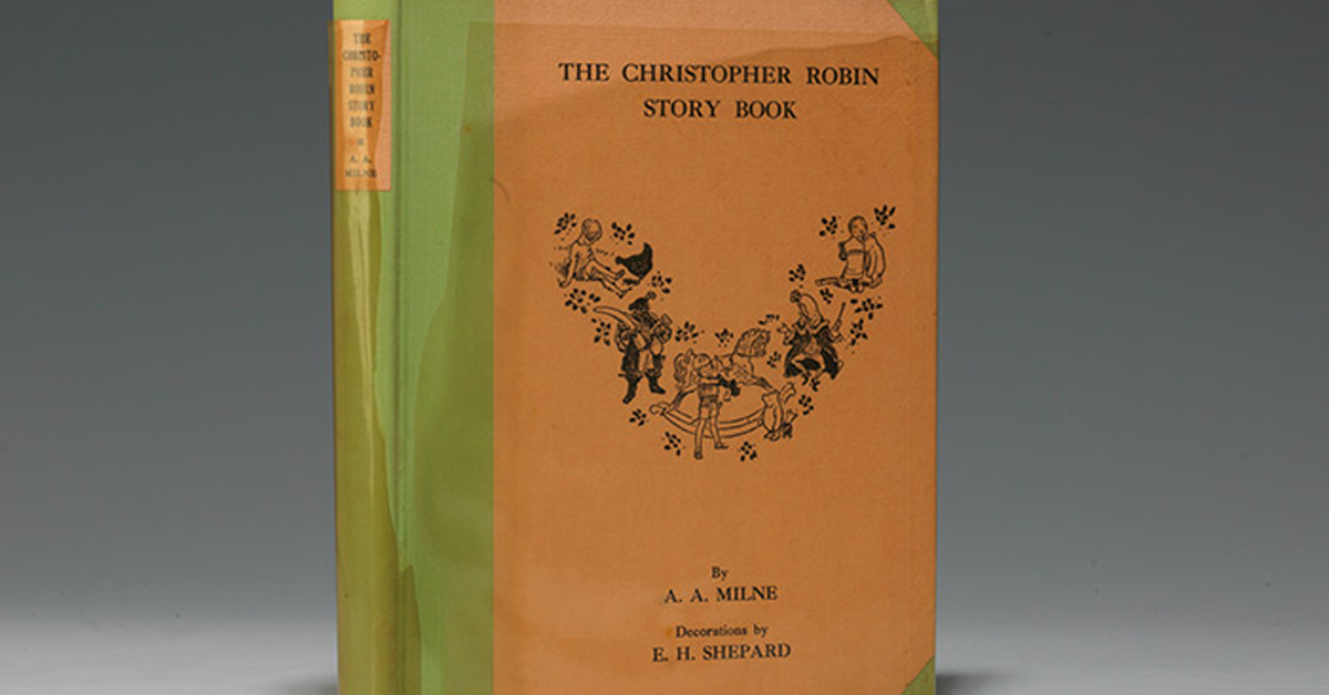 a copy of the christopher robin story book in its first edition