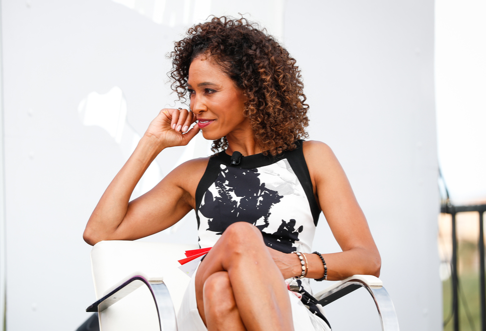 Sage Steele moderates the Women in Leadership panel at the espnW Summit