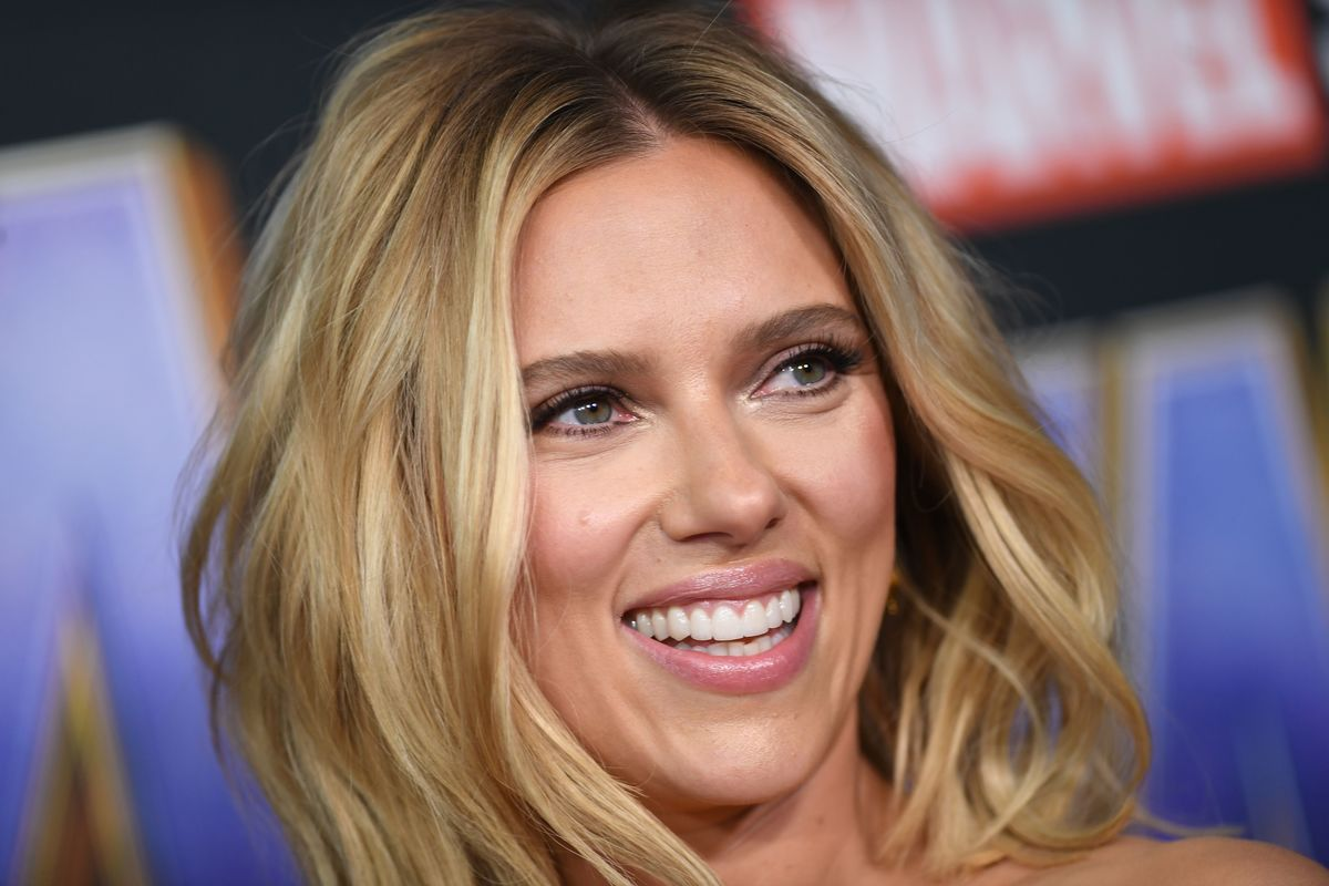"US actress Scarlett Johansson arrives for the World premiere of Marvel Studios' ""Avengers: Endgame"" at the Los Angeles Convention Center on April 22, 2019 in Los Angeles."