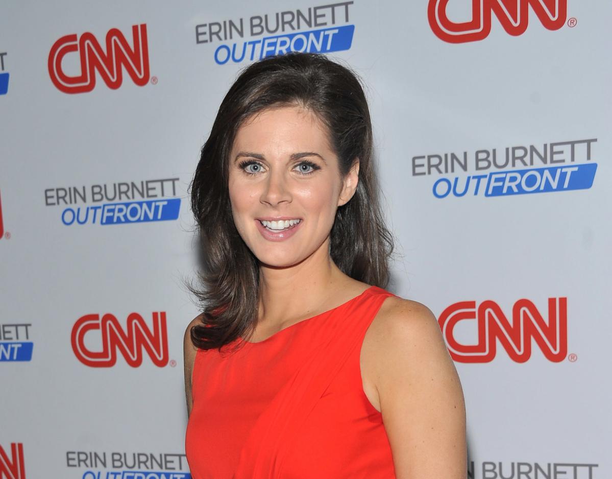 CNN anchor Erin Burnett attends the launch party for CNN's