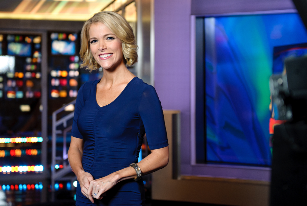 Megyn Kelly, host of America Live on set at Fox News studios in New York.