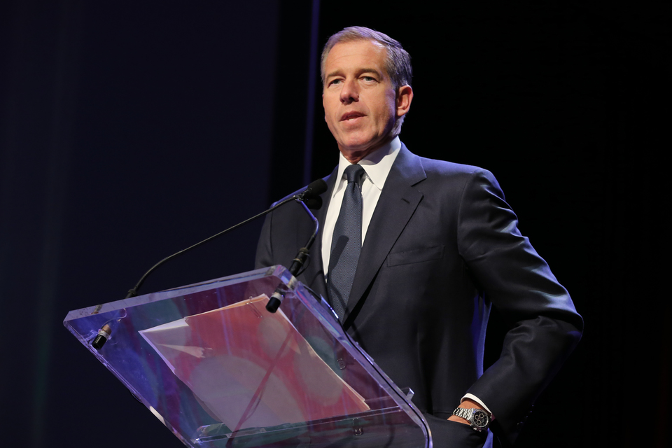 Emmy Award-winning anchor & managing editor of NBC Nightly News Brian Williams speaks at the 57th Annual New York Emmy awards