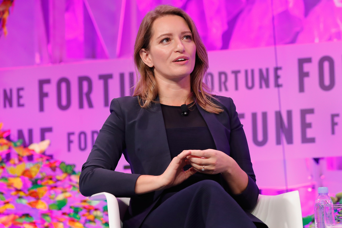 MSNBC Anchor and NBC News Correspondent Katy Tur speaks onstage at the Fortune Most Powerful Women Summit