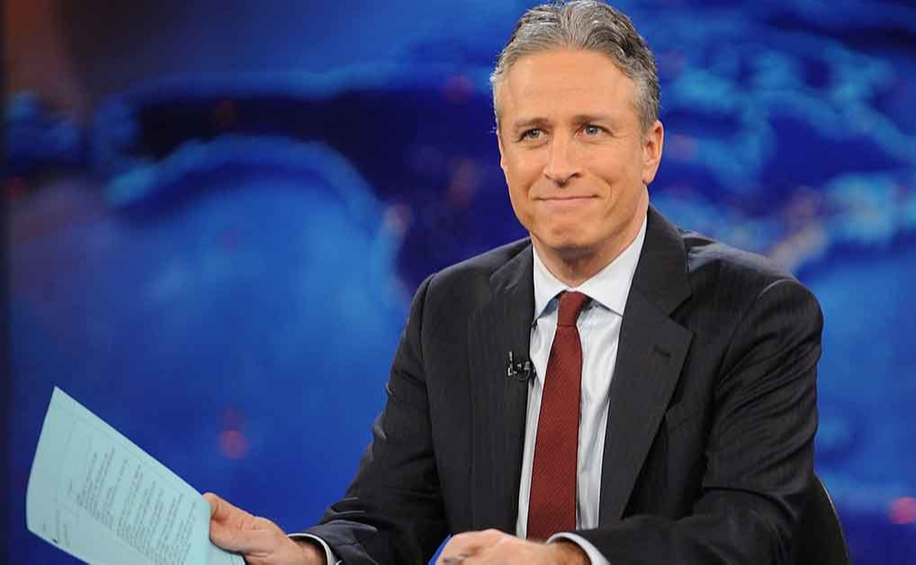 Jon Stewart reporting on The Daily Show on Comedy Central