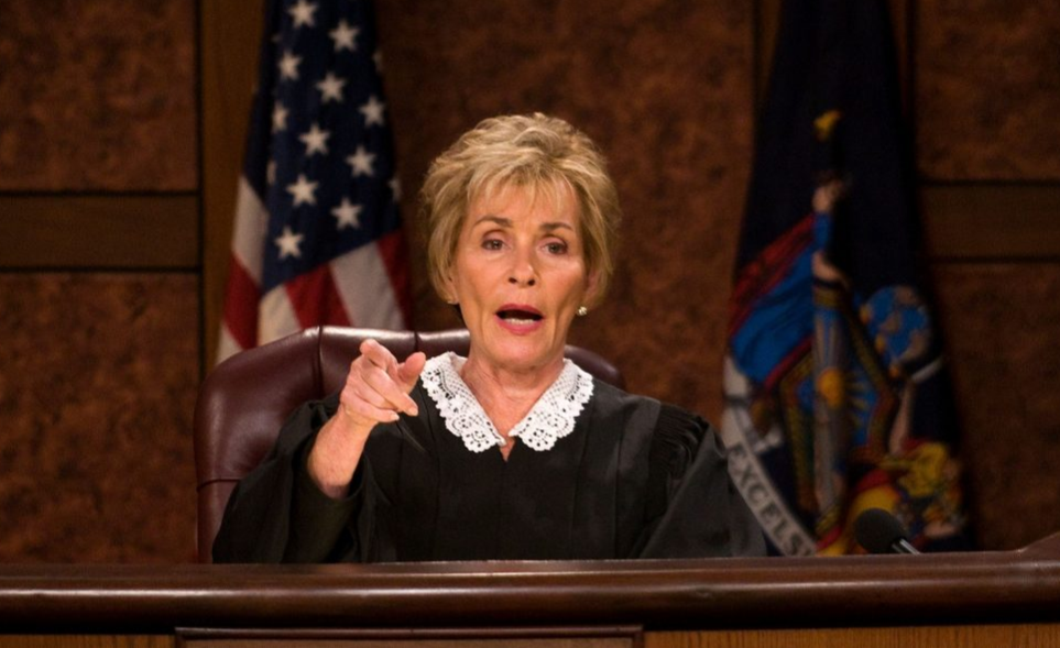Judge Judy on her reality show