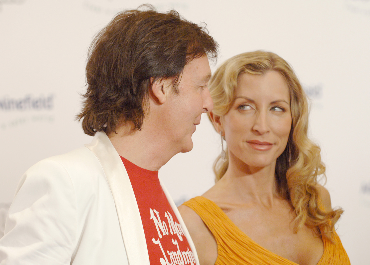 Paul McCartney and Heather Mills McCartney during Fifth Annual Adopt-A-Minefield