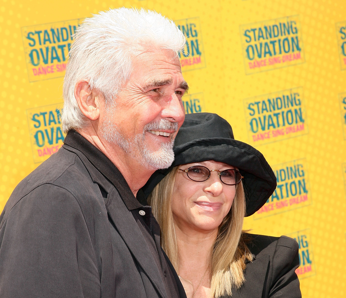 Producer James Brolin (L) and singer Barbra Streisand arrive at the premiere of