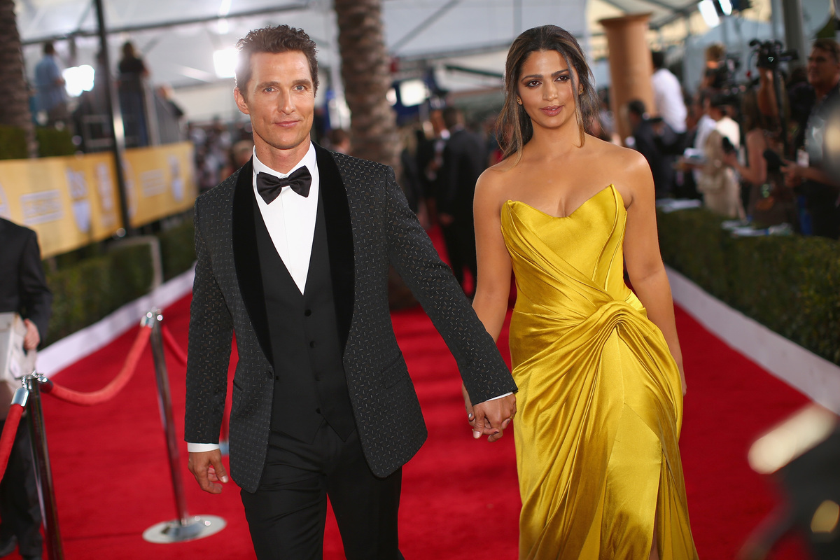 Actor Matthew McConaughey Camila Alves McConaughey attends 20th Annual Screen Actors Guild Awards