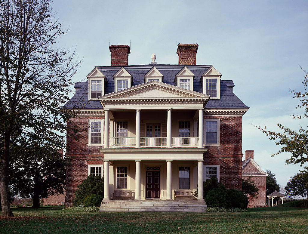 a view of the shirley plantation