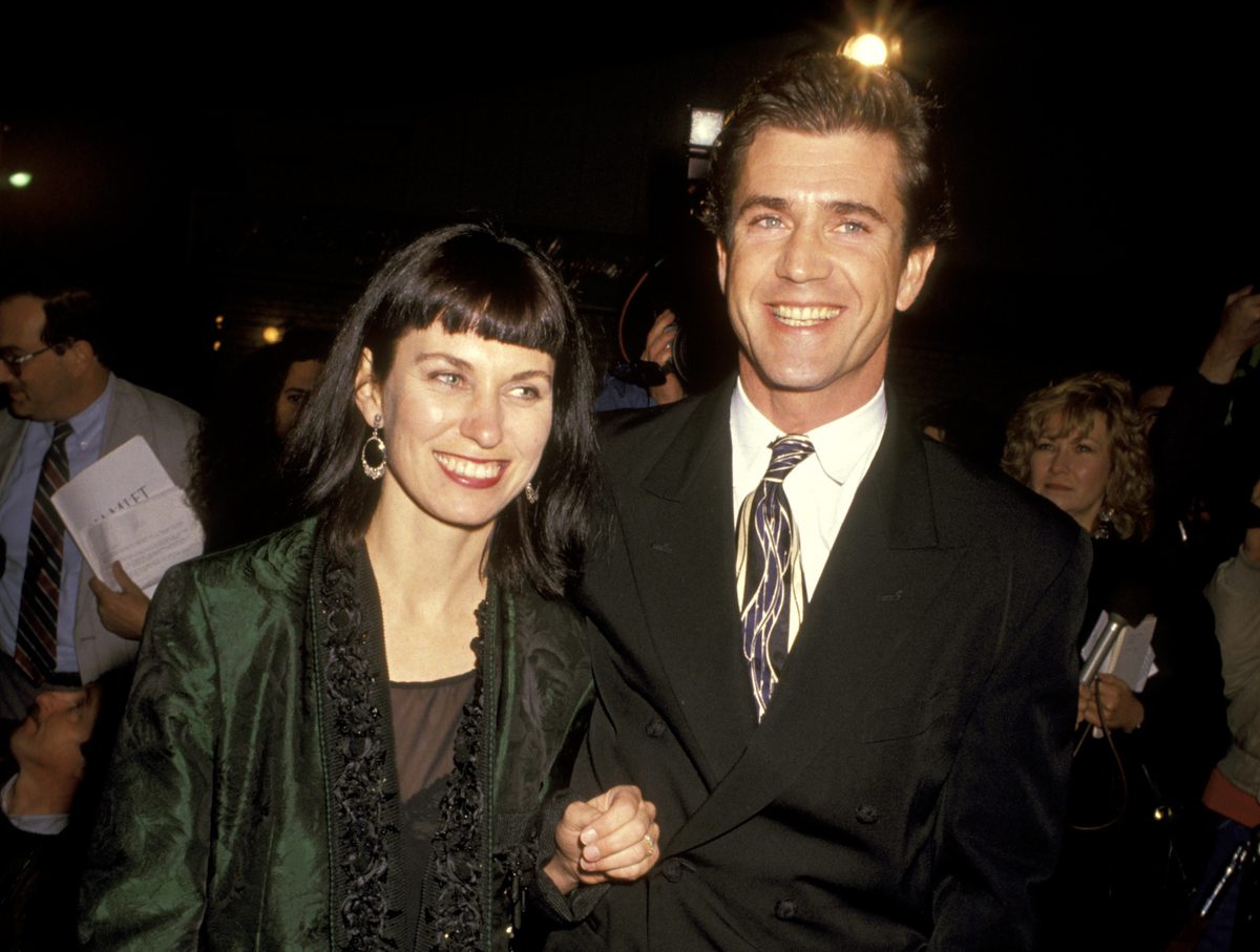Mel Gibson and Wife Robyn Moore at the Village Theater