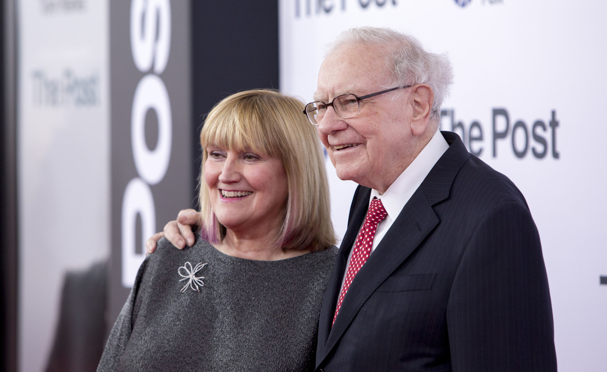 Astrid Menks and Warren Buffet attends the