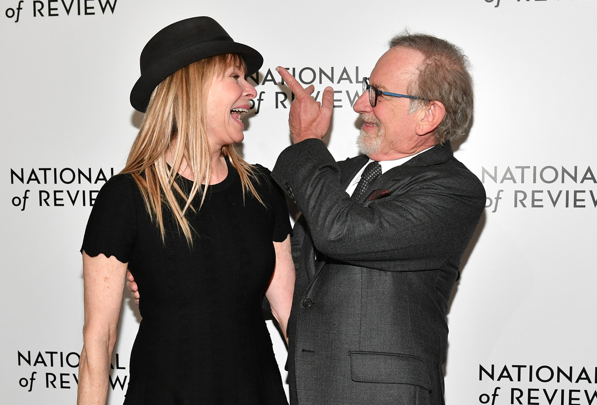 Director Steven Spielberg (L) and actress Kate Capshaw arrive at American Film Institute's 44th Life Achievement Award Gala Tribute to John Williams