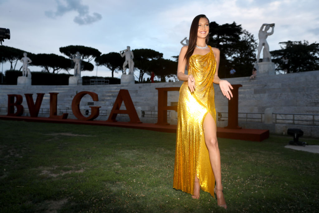 Bella Hadid attends BVLGARI Dinner & Party at Stadio dei Marmi
