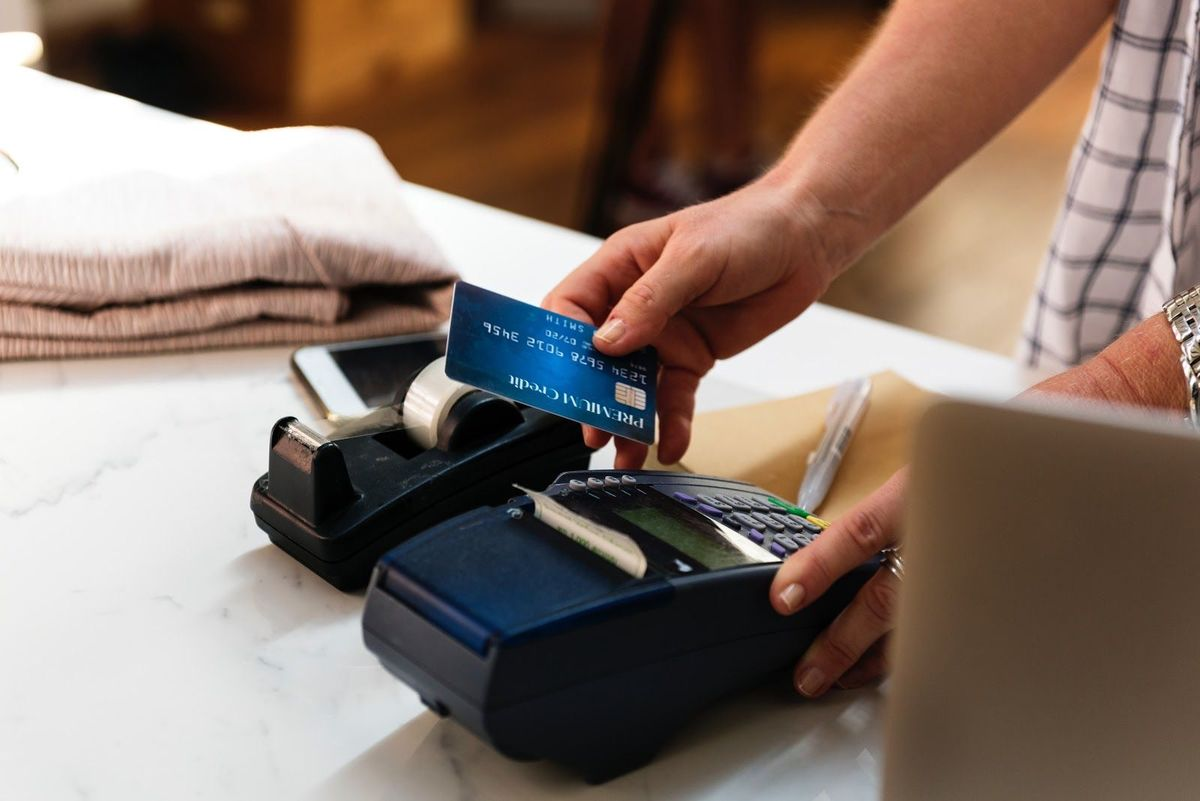running a credit card