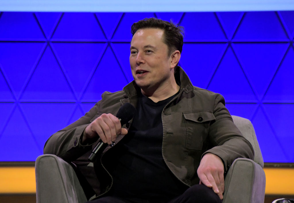 Elon Musk speaks onstage at the Elon Musk in Conversation