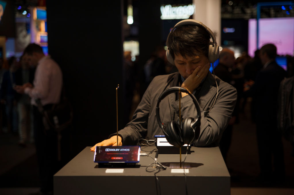 a man at a sony store