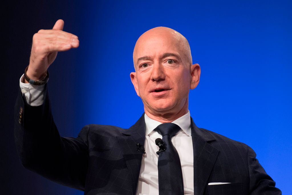 Jeff Bezos provides the keynote address at the Air Force Association's Annual Air, Space & Cyber Conference