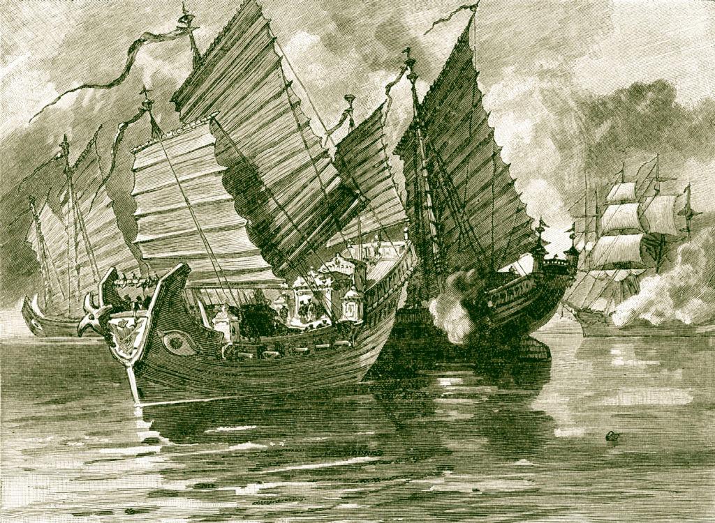 Chinese Junk boats