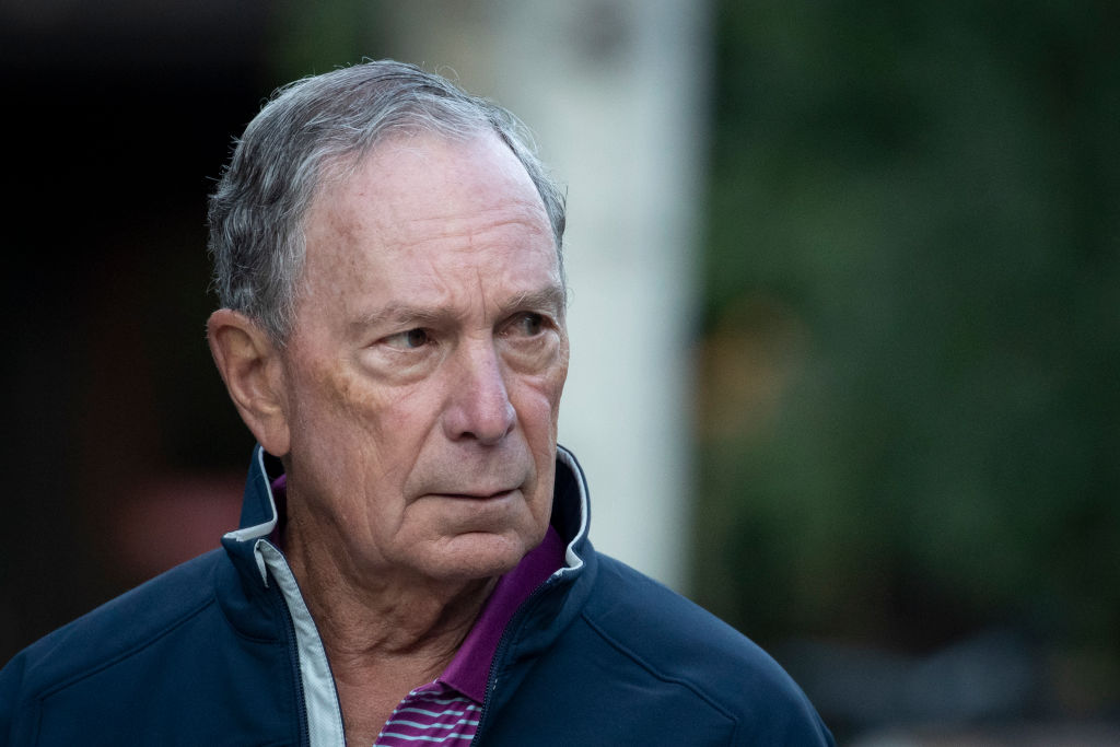 Former New York City mayor Michael Bloomberg attends the annual Allen & Company Sun Valley Conference